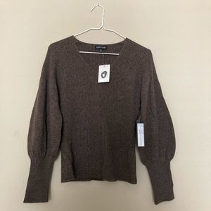 NWT Kynt & Lynk Cashmere Bubble Sleeve Pullover